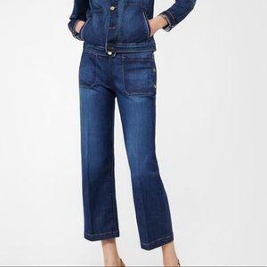 Frame Antibes High Rise Straight Leg Crop Jeans